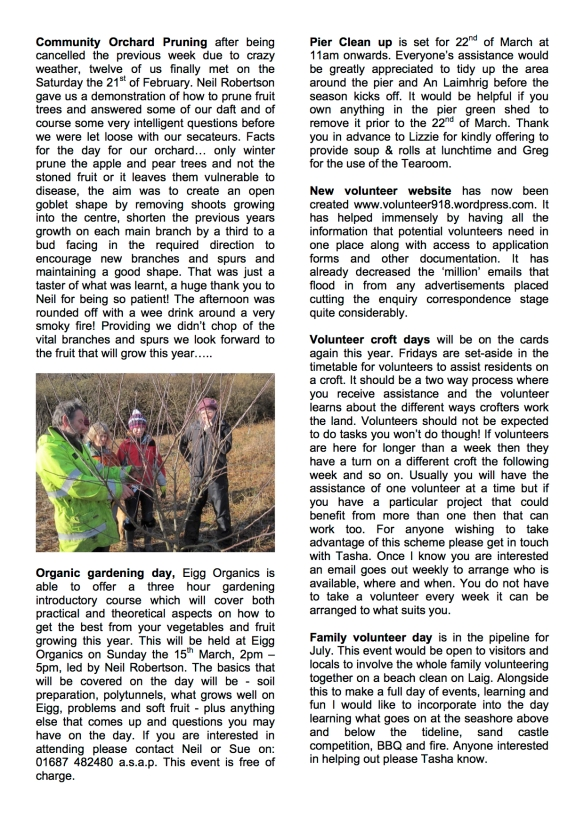 March Vol newsletter 2015 page 2